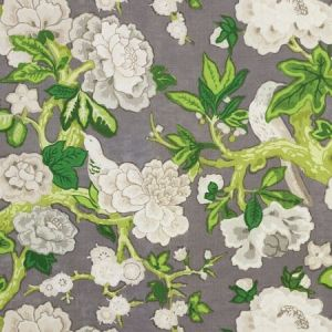 Schumacher Bermuda Blossoms Slate Fabric
