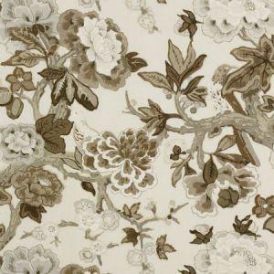 Schumacher Bermuda Blossoms Snow Fabric