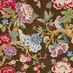 Schumacher Bermuda Blossoms Cocoa Fabric