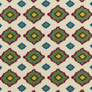 Schumacher Sikar Embroidery Jewel Fabric