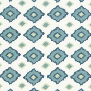 Schumacher Sikar Embroidery Sky Fabric