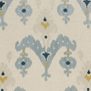 Schumacher Raja Embroidery Stone Fabric