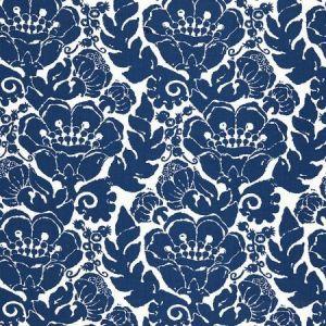 Schumacher Louis Nui Print Ocean Fabric