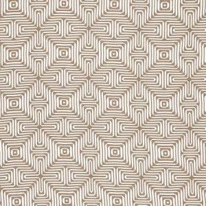 Schumacher Amazing Maze Sand Fabric