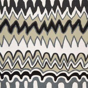Schumacher Zig Zag Weave Black Sea Fabric
