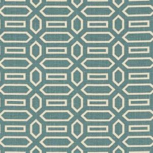 Schumacher Pavillion Peacock Blue Fabric