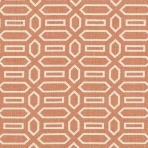 Schumacher Pavillion Burnt Orange Fabric