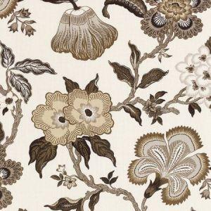 174033 Schumacher Hothouse Flowers Dusk Fabric