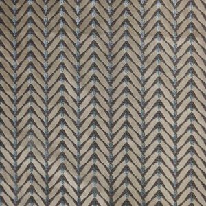 Groundworks Zebrano Beige Aqua Fabric