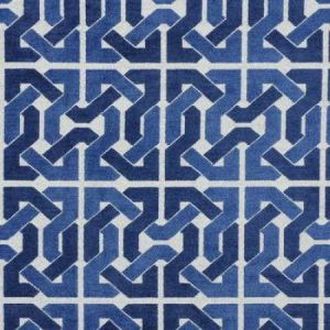 Groundworks Cliffoney Blue White Fabric