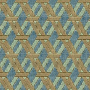 Groundworks Welbeck Aqua Taupe Fabric