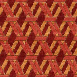 Groundworks Welbeck Red Orange Fabric