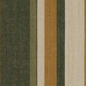 Groundworks Drummond Stripe Gold Sepia Fabric