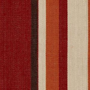 Groundworks Drummond Stripe Red Orange Fabric