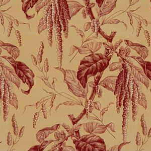 Lee Jofa Camille Beige Red Fabric