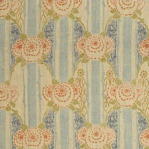 Lee Jofa Eloise Blue Orange Fabric