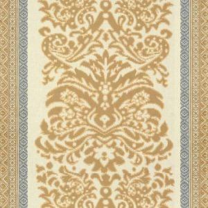 Lee Jofa Garnier Damask Beige Blue Fabric