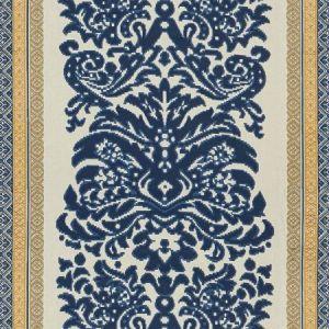 Lee Jofa Garnier Damask Navy Gold Fabric