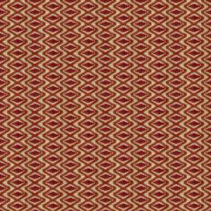 Lee Jofa Otto Trellis Spice Red Fabric