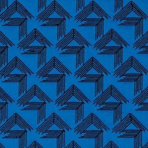 Schumacher V Step Cobalt Fabric