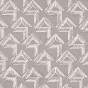 Schumacher V Step Pale Grey Fabric