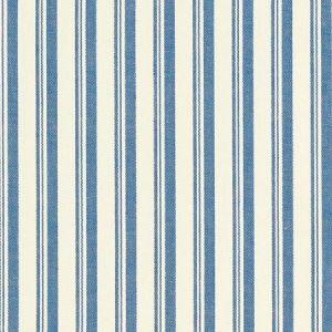 Schumacher Capri Navy White Fabric