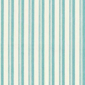 Schumacher Capri Aqua White Fabric