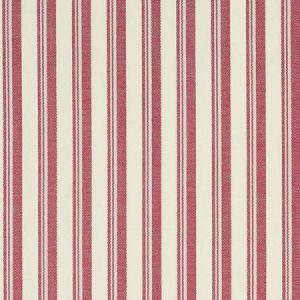 Schumacher Capri Red White Fabric
