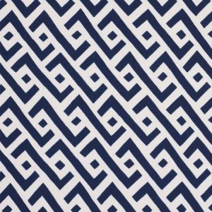 Schumacher Safari Blue Fabric