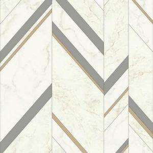 York MM1803 Marble Chevron Wallpaper