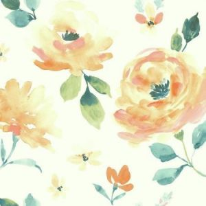 LK8316 Watercolor Blooms York Wallpaper