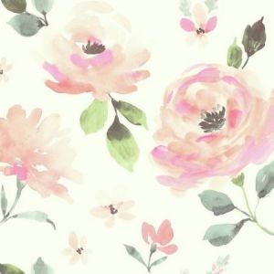 LK8318 Watercolor Blooms York Wallpaper