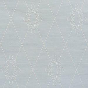 5009271 Sylvie Embroidered Sisal Water Blue Schumacher Wallpaper