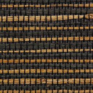 Astek ED149 Grasscloth Black and Tan Jute Wallpaper