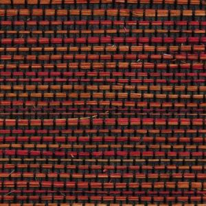 Astek ED159 Grasscloth Red and Black Sisal Fine Wallpaper