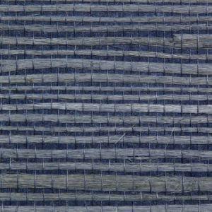 Astek ED163 Grasscloth Blue Jute Wallpaper