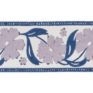 74401 Adra Hand Blocked Tape Lilac & Blue Schumacher Trim