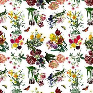 WNM 0001FLOR FLORA & FAUNA White Scalamandre Wallpaper