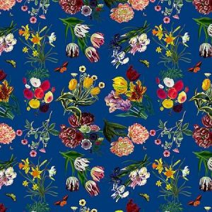WNM 0004FLOR FLORA & FAUNA Blue Scalamandre Wallpaper
