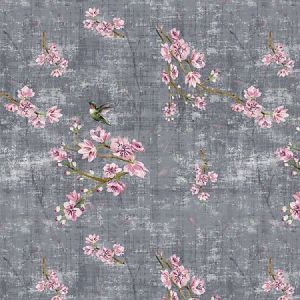 N4 1039BL1 BLOSSOM FANTASIA Charcoal Scalamandre Fabric