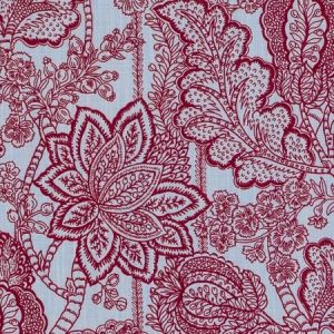 DE42670-73 AVILLEZ Red Blue Duralee Fabric