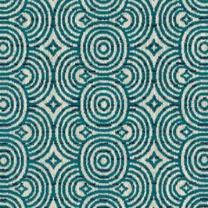 DU16371-57 VIALONGA Teal Duralee Fabric