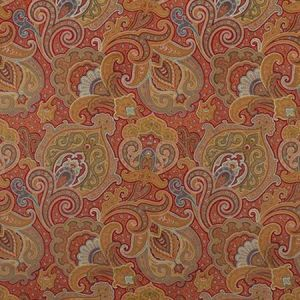 Clarence House Parker Paisley Red LMSTK18 Fabric