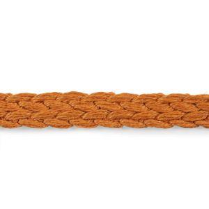 76272 Braided Linen Tape Narrow Orange Schumacher Trim