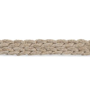 76274 Braided Linen Tape Narrow Natural Schumacher Trim