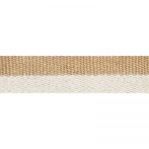 77030 Modern Neutral III Narrow Tape White & Gold Schumacher Trim