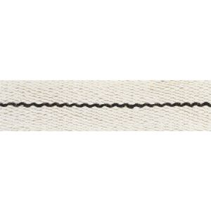77060 Agnes Narrow Tape White & Black Schumacher Trim