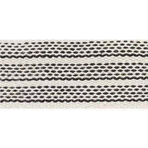 77070 Agnes Medium Tape White & Black Schumacher Trim