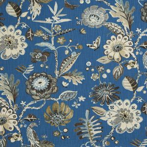 9467503 BIRD FAIR Cobalt Fabricut Fabric
