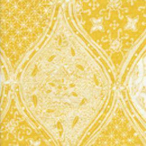 6630CU-06 BALINESE BATIK Inca Gold Cream on White Quadrille Fabric